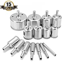 Drillpro 15-Piece Diamond Hole Saw Remover Tools Drill Bits