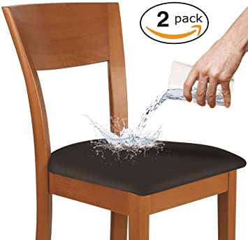 KLEEGER Fundas para sillas impermeables: protectoras y elásticas, se adapta a sillas redondas y cuadradas. Para niños, mascotas, juego de 2: Amazon.es: ...