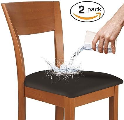 KLEEGER Fundas para sillas impermeables: protectoras y elásticas, se adapta a sillas redondas y