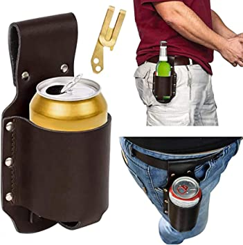 Leather Classic Beer Holster Bottle