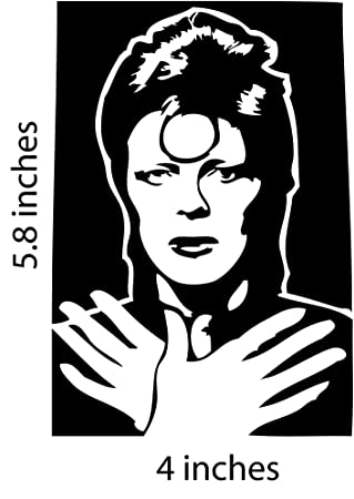 David bowie sticker cut vinyl decal