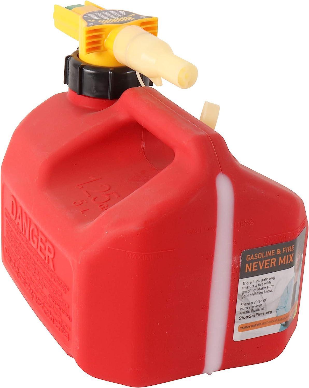 CARB Compliant No-Spill 1415 1-1//4-Gallon Poly Gas Can