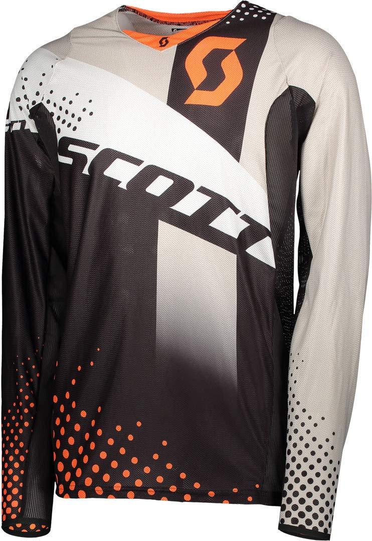 Scott 450 Angled MX Motocross Jersey/DH Fahrrad Trikot schwarz/Orange 2018: Größe: S (46/48)