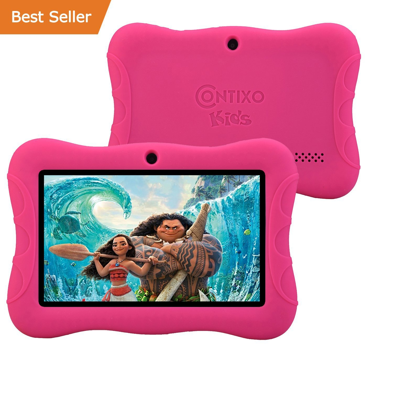 Contixo Kids Safe 7'' Quad-Core Tablet 8GB, Bluetooth, Wi-Fi, HD Edition w/ Kids-Place Parental Control, Kid-Proof Case (Pink) - Best Gift