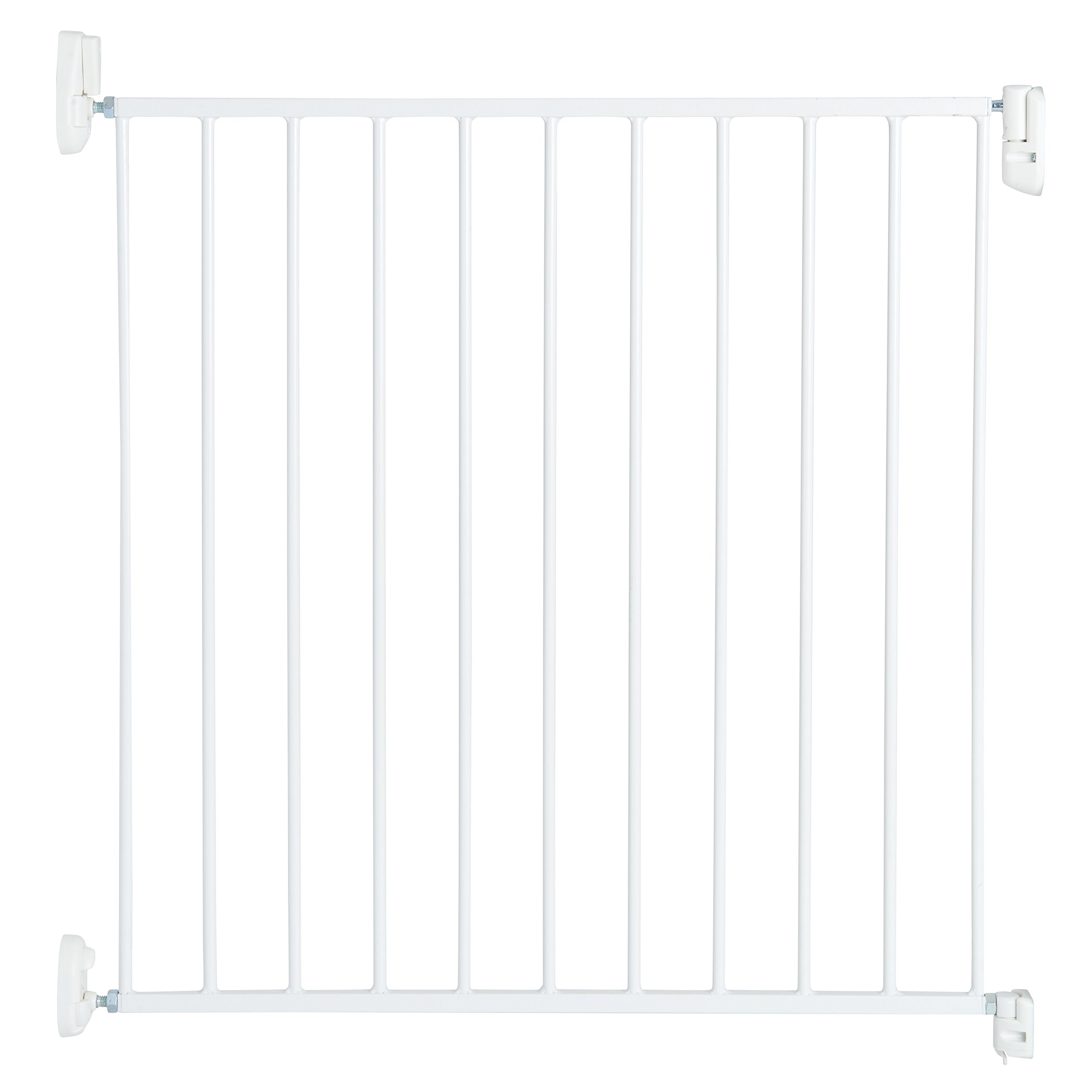 Munchkin Sure Shut Push to Close Hardware Baby Gate, Adjusts from 30'' to 32'' Wide, White, Model MKSA0646