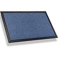 Mibao Entrance Door Mat Large Heavy Duty Front Outdoor Rug Non-Slip Welcome Doormat for Entry, 18 x 30 inch, Blue