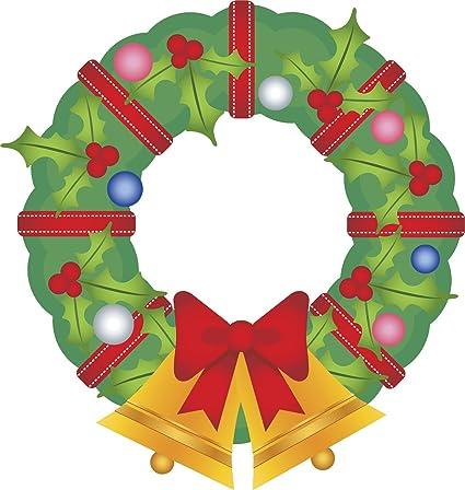 Amazon Com Pretty Simple Christmas Holiday Wreath Cartoon Vinyl
