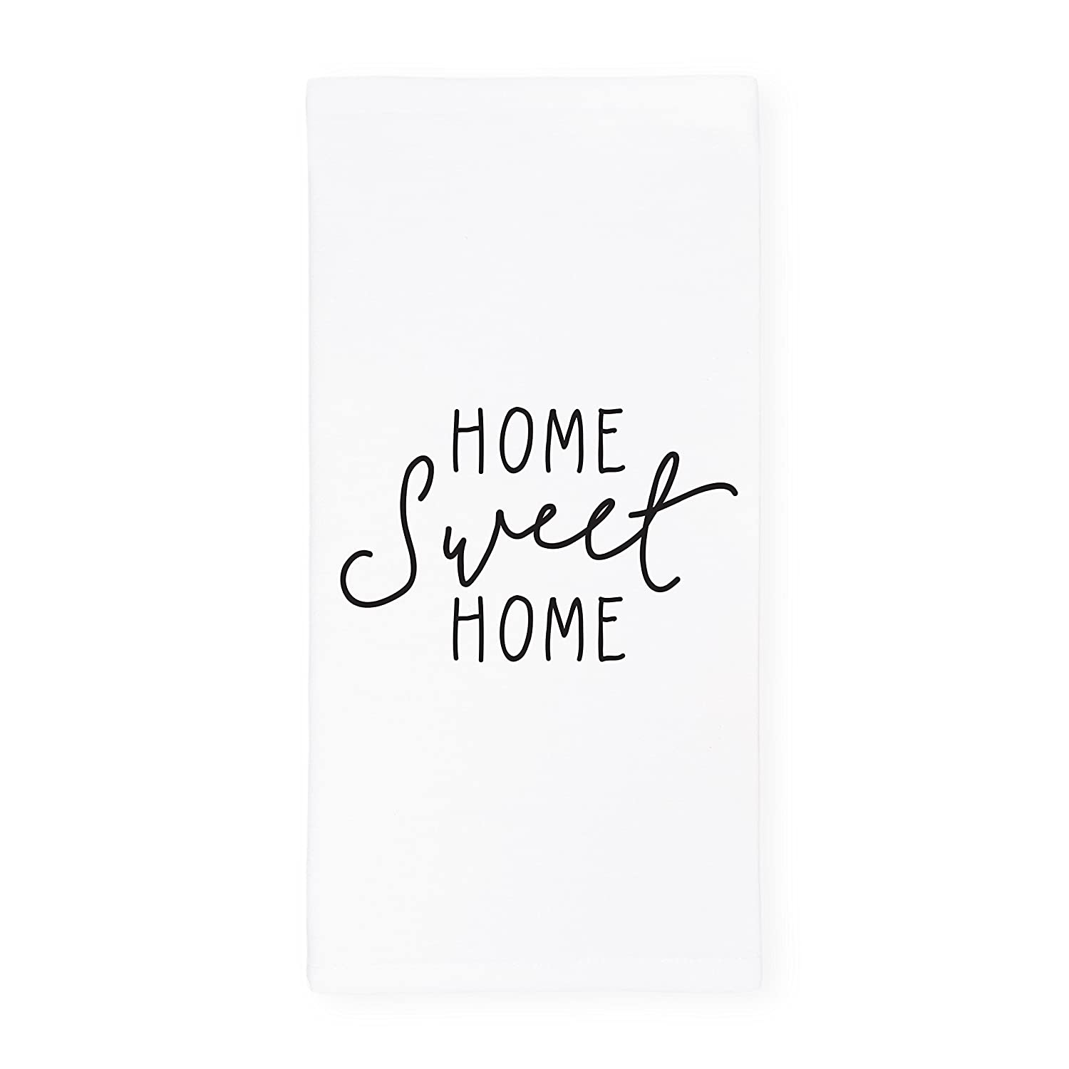 The Cotton & Canvas Co. Home Sweet Home Soft and Absorbent Kitchen Tea Towel, Flour Sack Towel, Dish Cloth, 1-Count