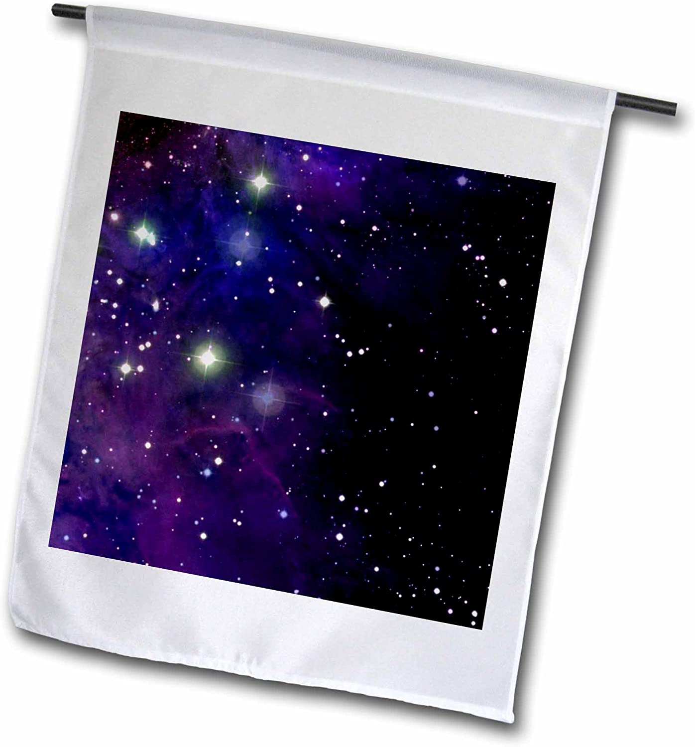 3dRose fl_112991_1 Garden Flag, 12 by 18-Inch, Twinkling Stars in Outer Space Photography-Astronaut Midnight Blue Shining Starry Night Sky