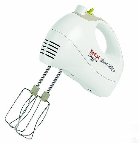 Tefal HT4101 Batidora, potencia 450 V, plástico, 5 velocidades, color blanco