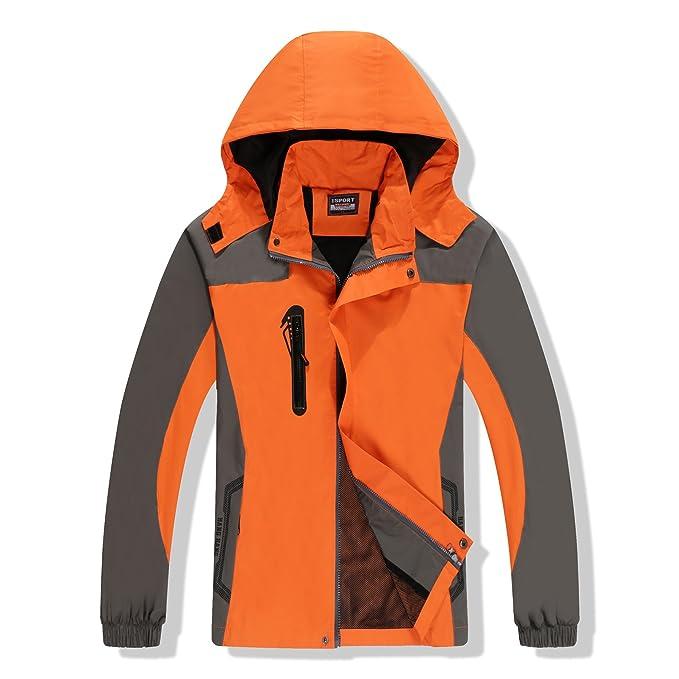Juqilu Chaqueta para Mujeres Hombre para Deportes Esquí Invierno Abrigo Impermeable Chaqueta de Nieve a Prueba Viento Excursionismo Ropa de Deporte M-3XL: ...