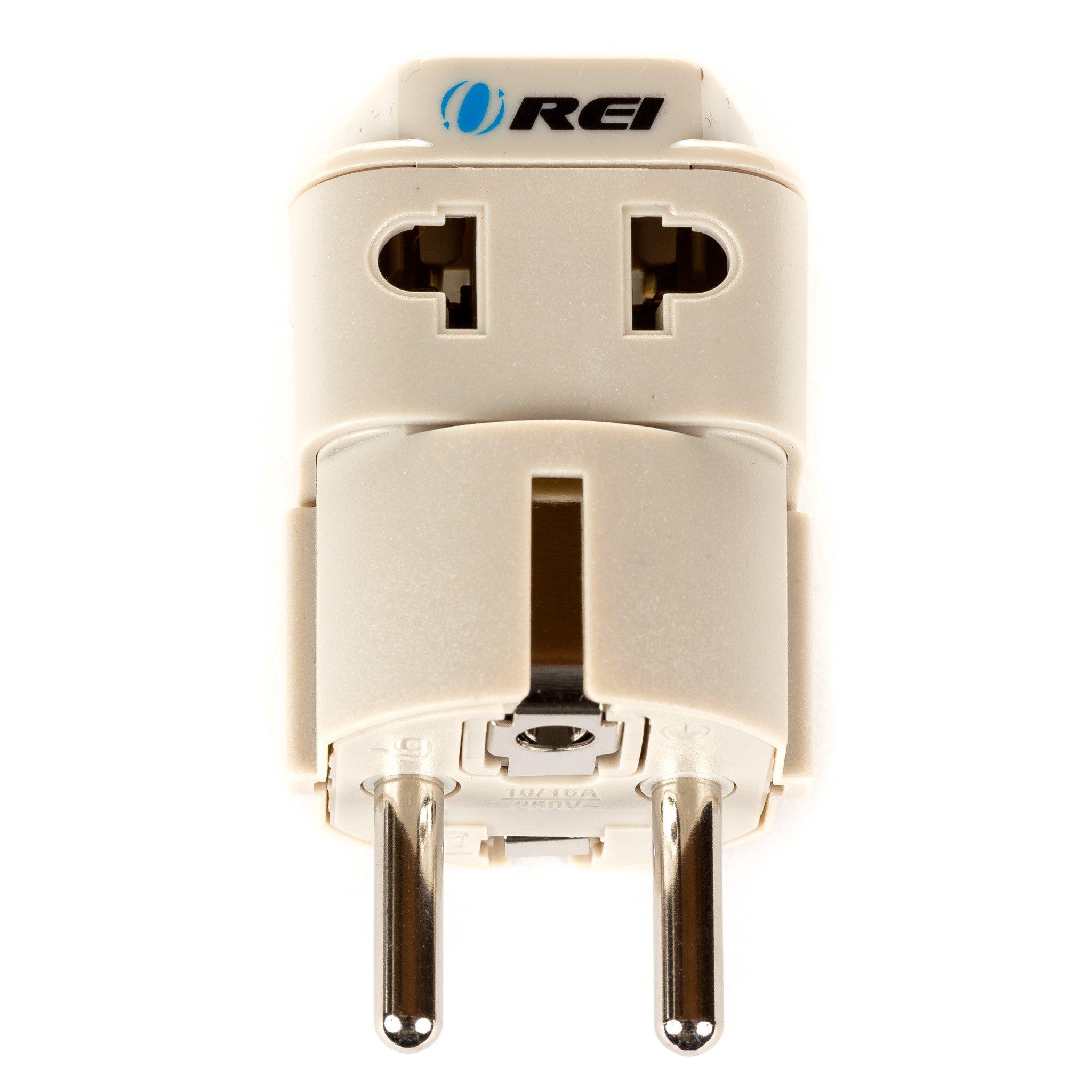 2 in 1 plug adapter schuko type e f 3000 watts connectors. Black Bedroom Furniture Sets. Home Design Ideas