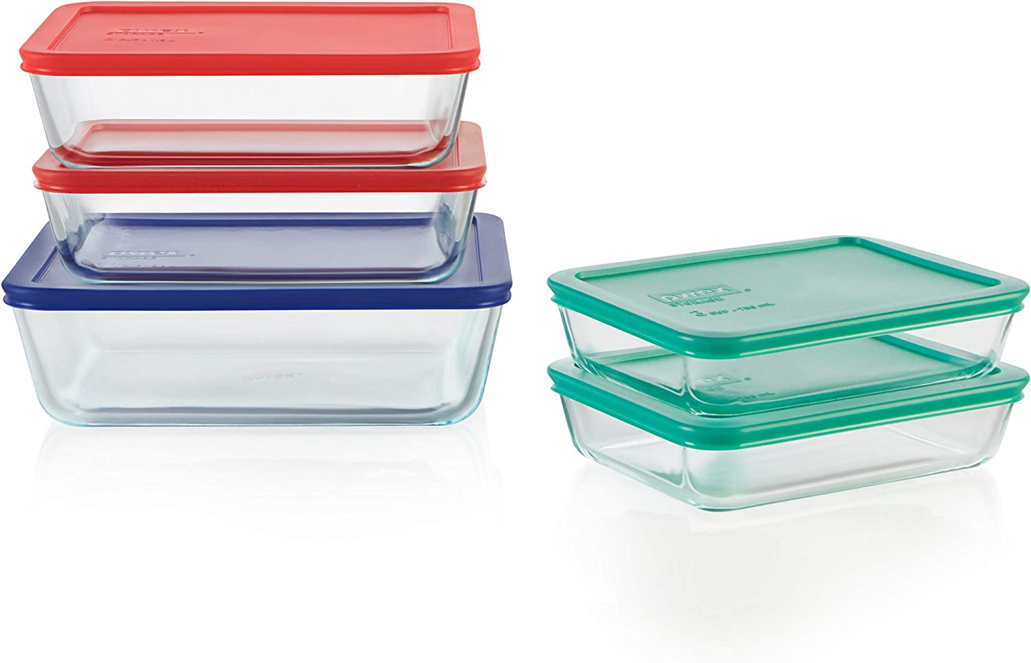 Pyrex 1136617 Glass food storage set, 10-Piece