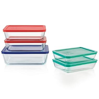 Pyrex 1136617 Glass food storage set, 10-Piece