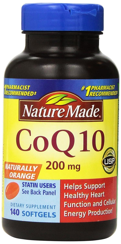 [Nature Made] CoQ 10 コエンザイムQ10 Liquid Softgels Naturally Orange 200 mg 140粒 (2瓶セット) B00NI30772