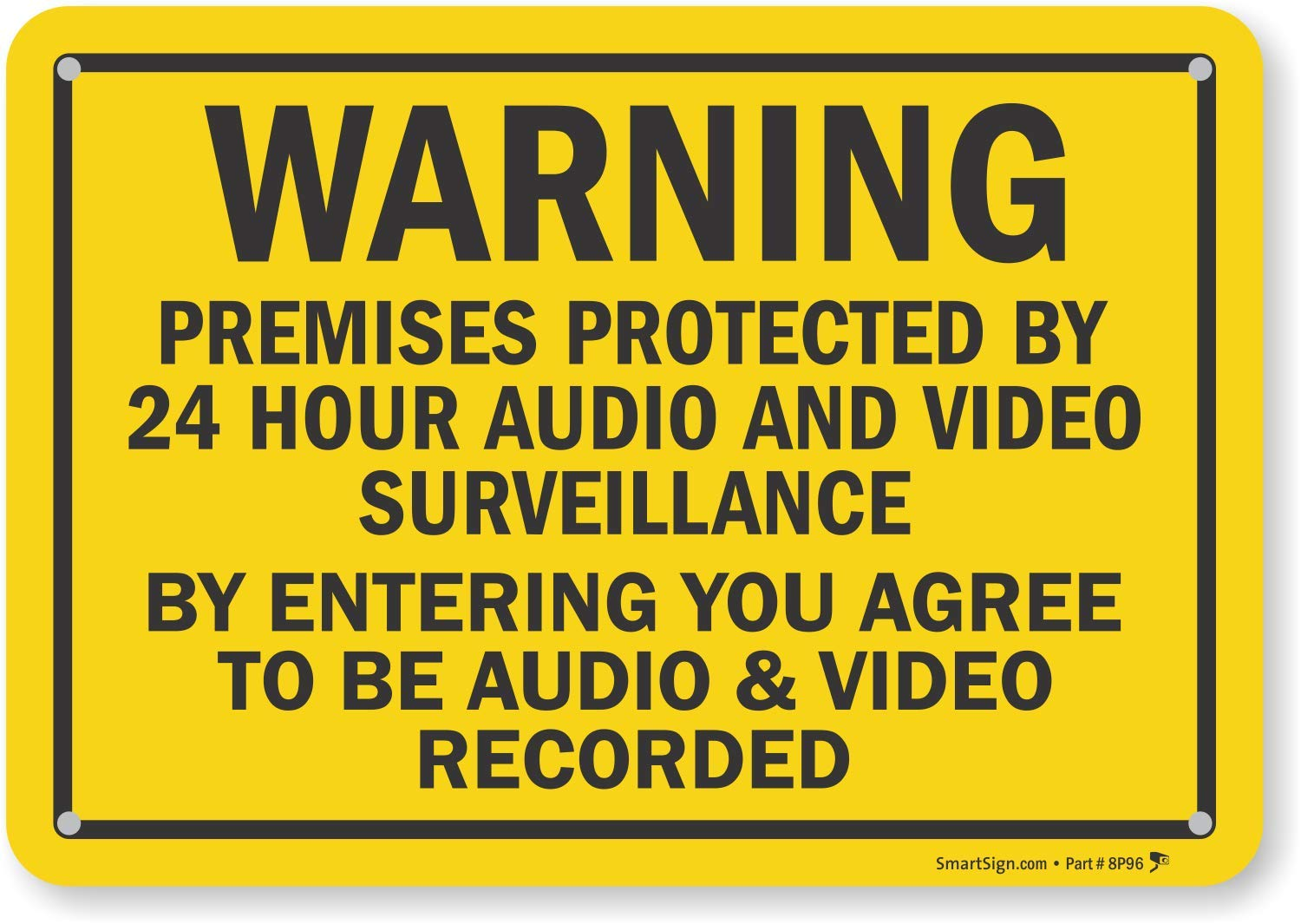 graphic regarding Video Surveillance Signs Printable referred to as SmartSign \