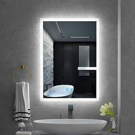 Bathroom Mirrors.Quavikey Led Illuminated Bathroom Mirrors Wall Mounted With Lights