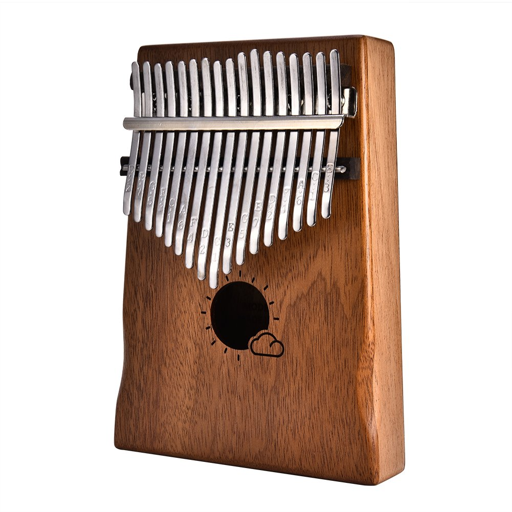 Smileyyi 17 Key Kalimba African solid Mahogany Thumb Piano Finger Piano with Bag h45