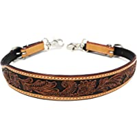 CHALLENGER Western Tack Floral Tooled Leather Wither Breast Collar Strap 105HR25