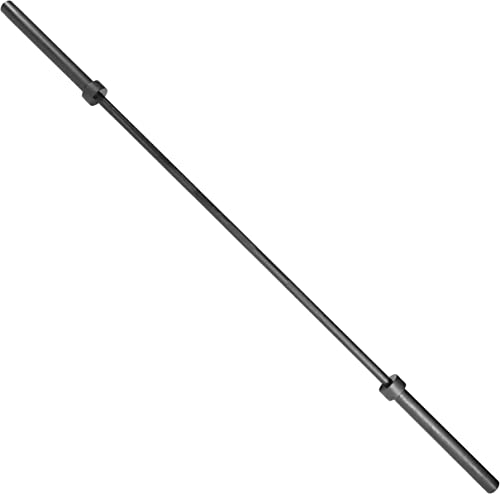 CAP Barbell Deluxe Olympic Bar, Black 5-Feet 2-Inch Diameter