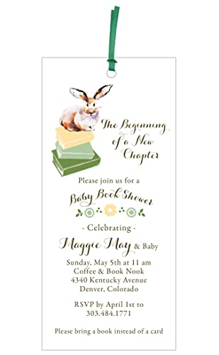 amazon com baby book shower invitation and bookmark gift handmade