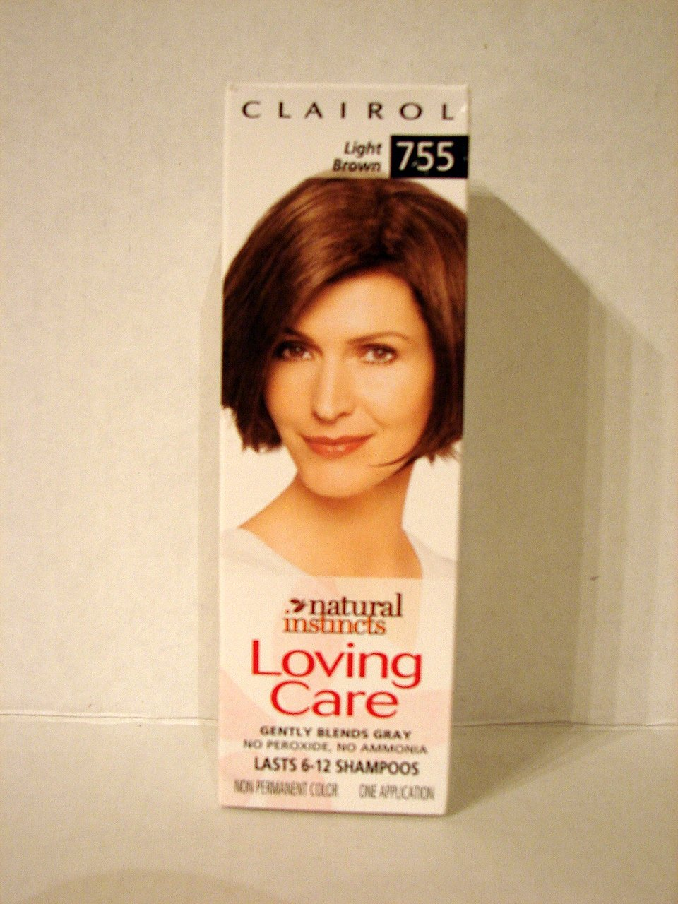 Clairol loving care, hair color creme lotion 755, Light natural brown - 3 Oz, 1 ea by Clairol