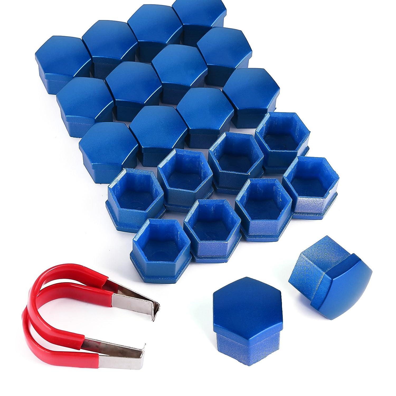 SurePromise 20pz. 17mm Copridad Copribulloni per Ruota Dado Coperchio Bullone Tappo Blu Universale SurePromise Limited