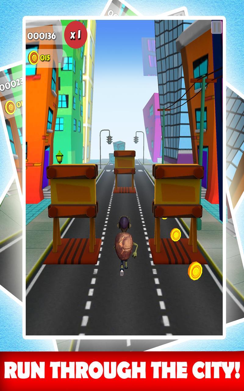 Superhero Turtle 3D Runner Adventure - Escape The City ...