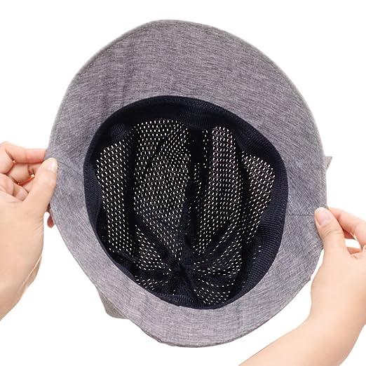 2523387e55d07 Amazon.co.jp:軽量ふんわり小顔UV帽子 グレー:ドラッグストア