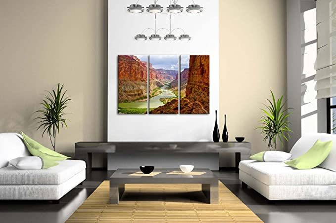 First Wall Art - River In Grand Canyon Wall Art Painting