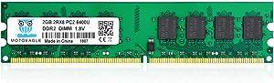 DDR2 PC2 6400 800 MHz Udimm RAM, Motoeagle 2GB PC2 6400U 1.8V Unbuffered Desktop Memory Modules