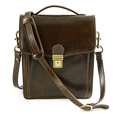 Dream Leather Bags Made in Italy Genuine Leather Man Genuine Leather Bag Color Dark Brown chic