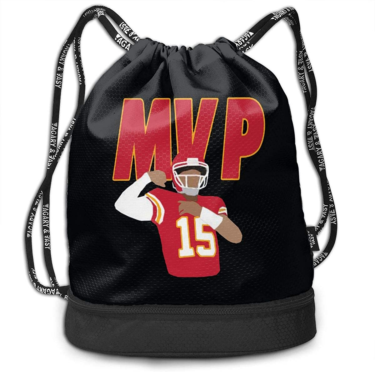 Drawstring Bag Kansas City Mahomes MVP Gym Bag Sport Backpack Shoulder Bags Travel College Rucksack