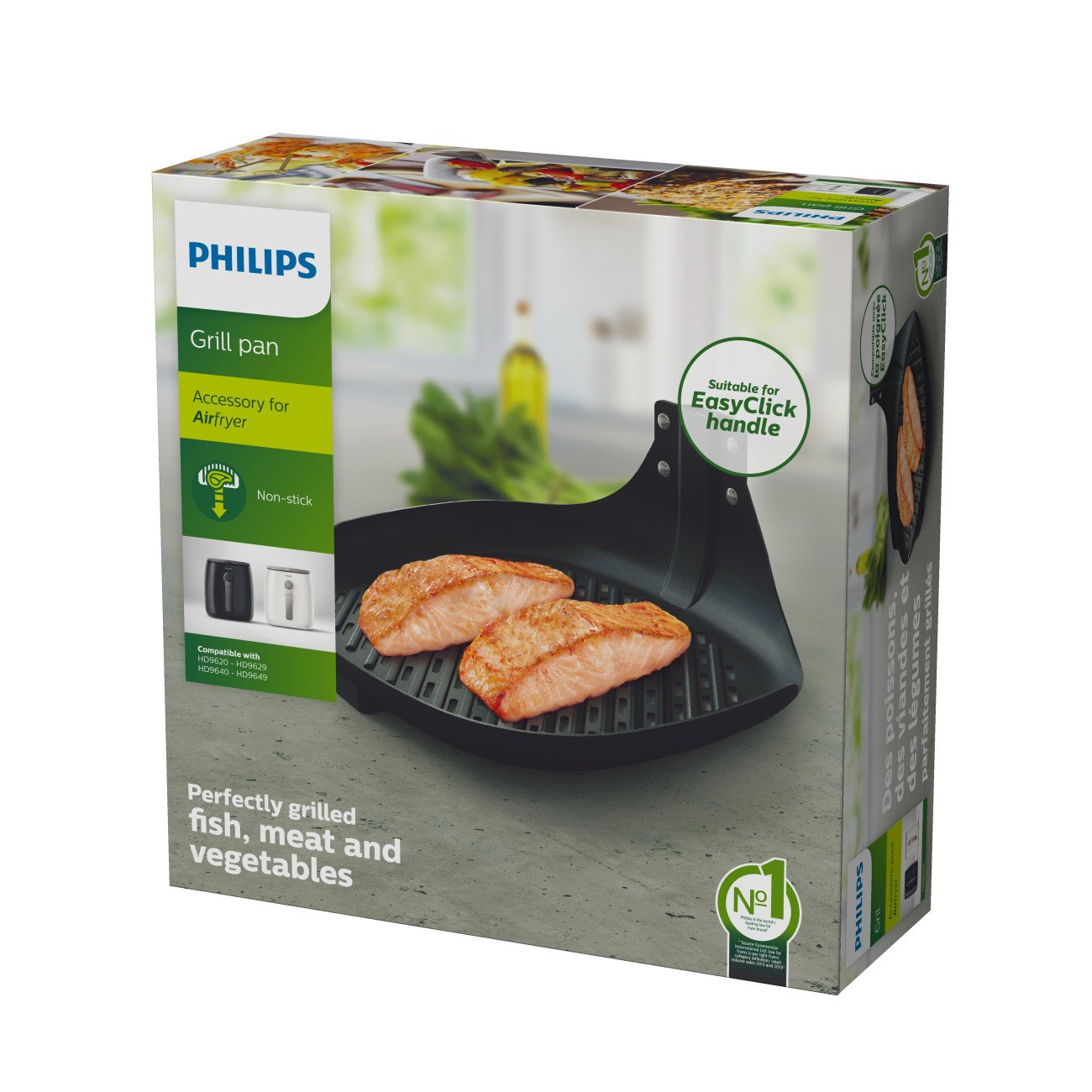 Philips HD9940/00  Airfryer Non-Stick Grill Pan Accessory for TurboStar model Airfryers by Philips (Image #5)