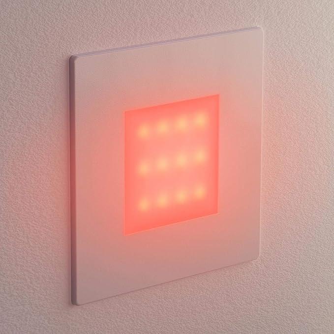 230V 6 UDS 8,5x8,5cm Blanca c/álida Angular ledscom.de LED l/ámpara de Escalera l/ámpara empotrable en la Pared