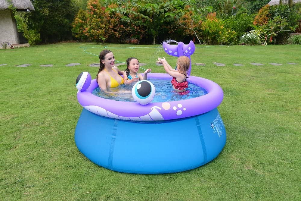 Jilong 17523/Frame Pool Whale Spray 175/* 70/cm Purple