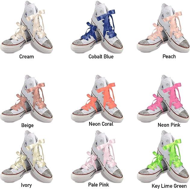 TZ Laces Marca Plano 15mm Ancho Nudos Zapatos Moda Zapatillas Hola-Tops Patines