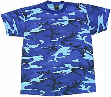 f0cd00f7 Sky Blue Camouflage T-Shirt | Amazon.com