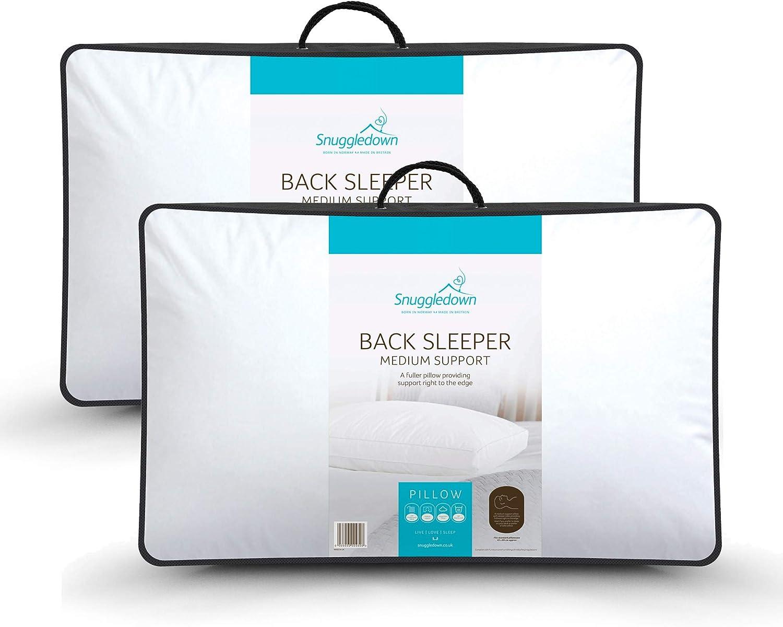 Snuggledown Back Sleeper White Pillow
