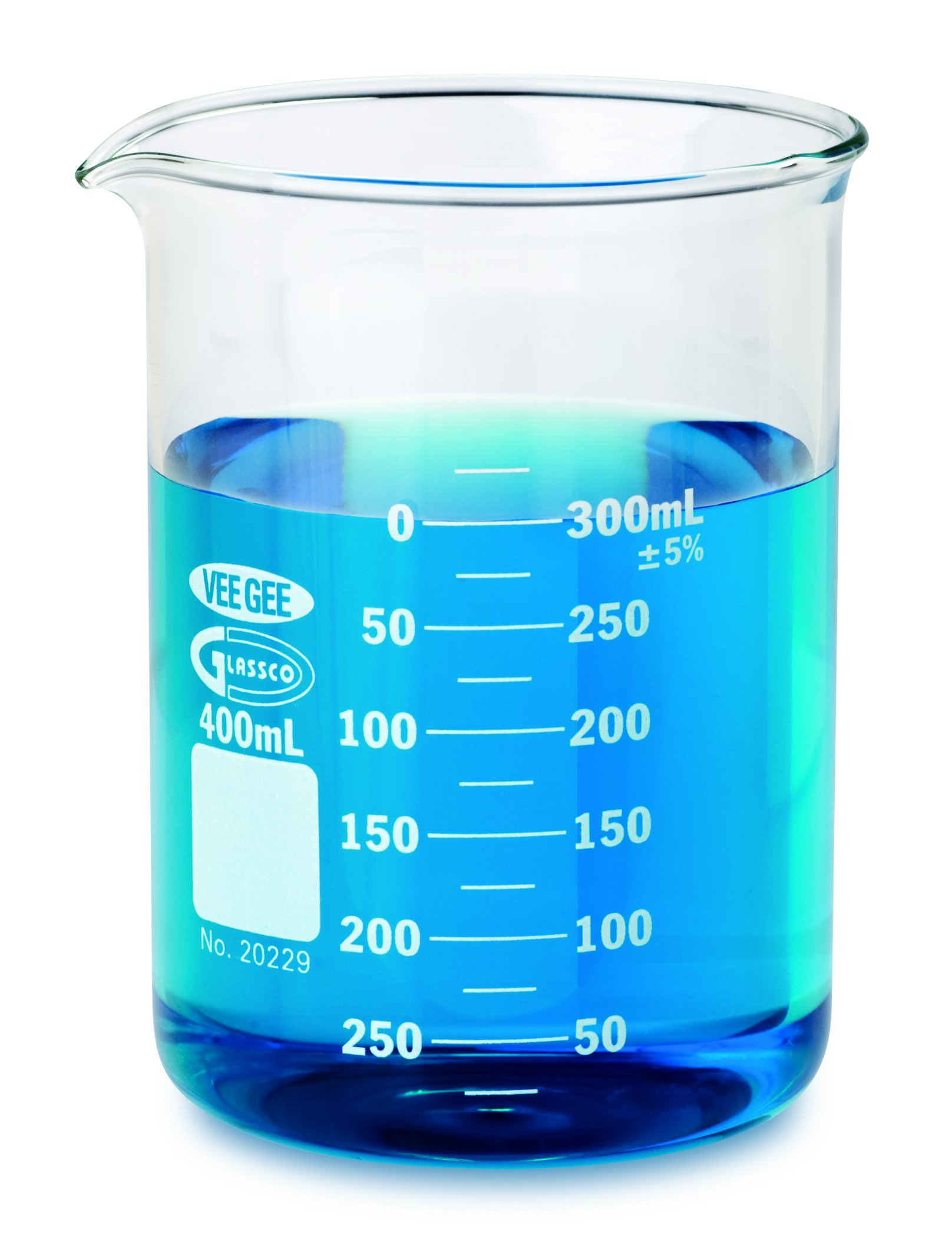 Vee Gee Scientific 20229-2000 Borosilicate Glass Griffin 2000 mL Low Form Beaker (Pack of 4)