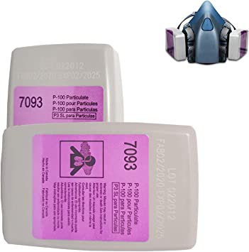 7093 Particulate Cartridge/Particulate Filter Compatible with 7093 Use with Filter Retainer 6800 6200 7502 FF-4,4 PCS
