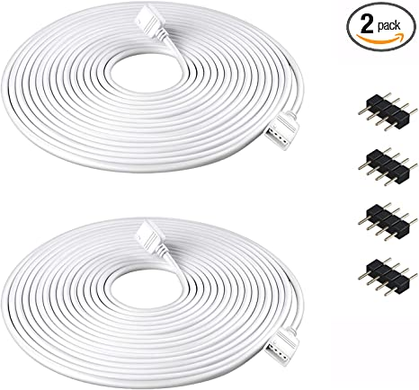 2//5m 4 Pin 5050 3528 LED RGB Strip Extension Connector Cable Wire Power Adapter