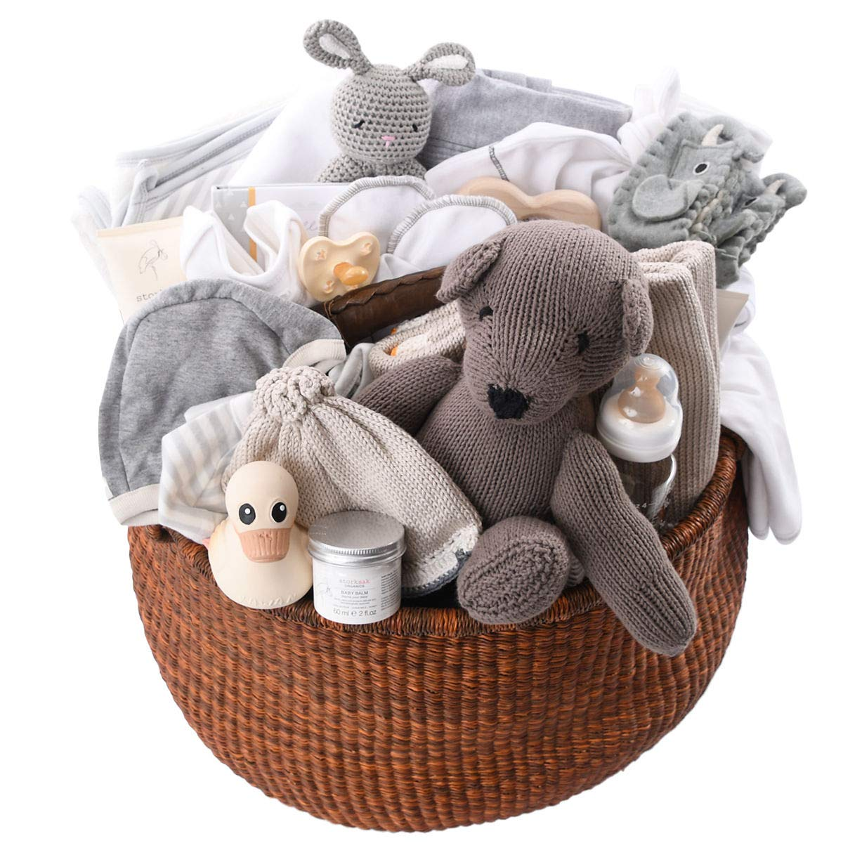 Amazon Com Huge Baby Gift Basket Organic Luxury Group Gift Idea For Baby Shower Corporate Gifts Baby