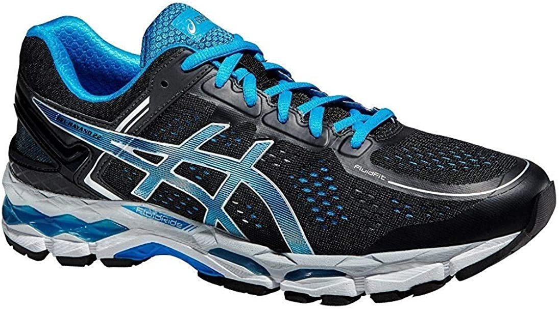 ASICS Gel-Kayano 22, Zapatillas de Running Competition Hombre, Negro (color negro y azul), 50.5 EU: Amazon.es: Zapatos y complementos
