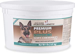 DRS. Foster and Smith Premium Plus Omega-3 Soft Chews for Dogs, 4 lbs.