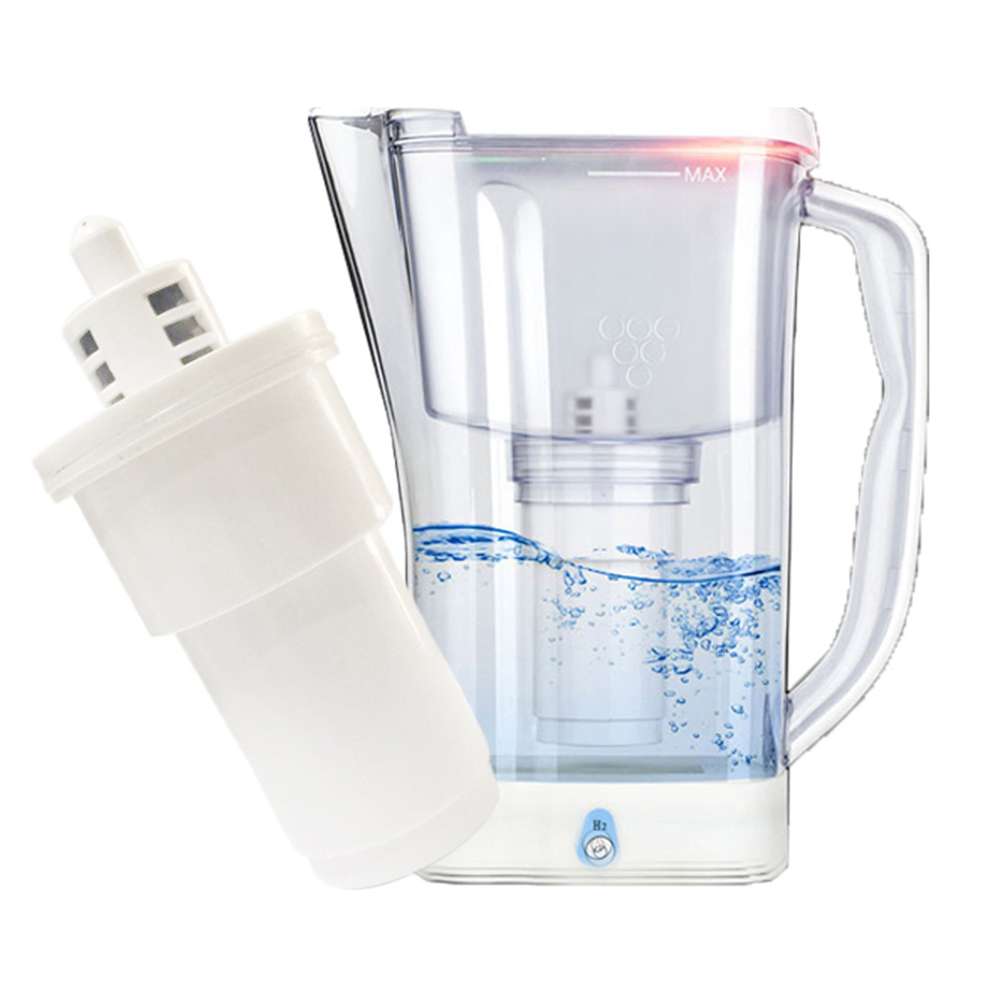 2 in 1 Hydrogen-Rich Ionizer Water Filter Jug (Water Filter Jug)