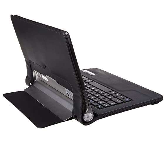 IVSO Funda de Cuero con Teclado QWERTY Bluetooth para Lenovo Yoga Tablet 10 (Negro)
