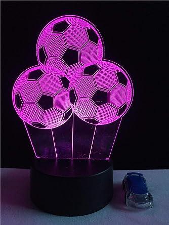 YEEHOR Nuevo balón de fútbol Luz nocturna Sporting 3D LED Lámpara ...