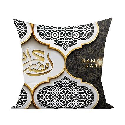 Ramadan Decoration Eid Mubarak Housse De Coussin Polyester