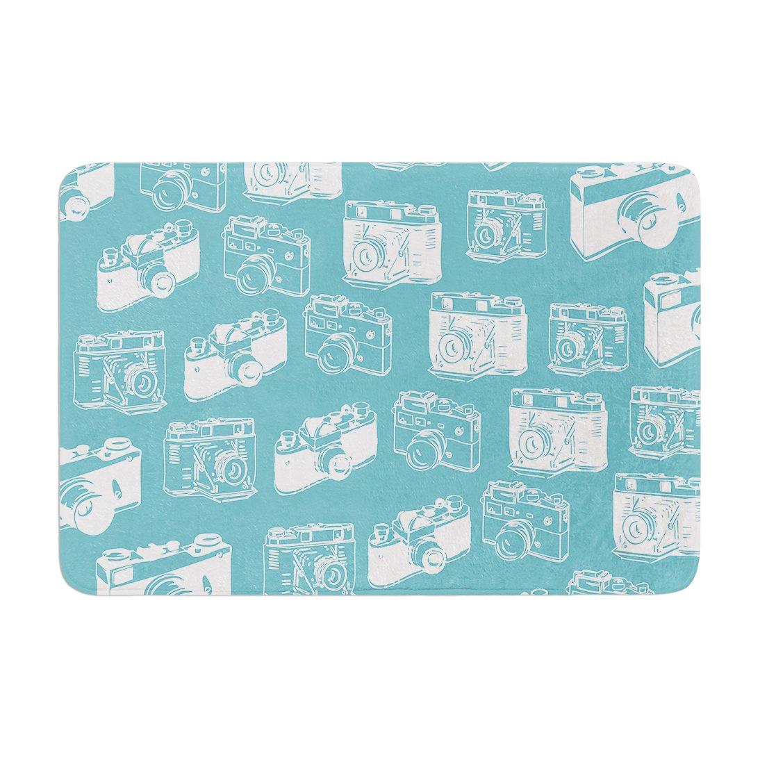 Kess InHouse 'Kess Original Camera Pattern G. Blu Memory Foam Bath Mat, 17 by 24'